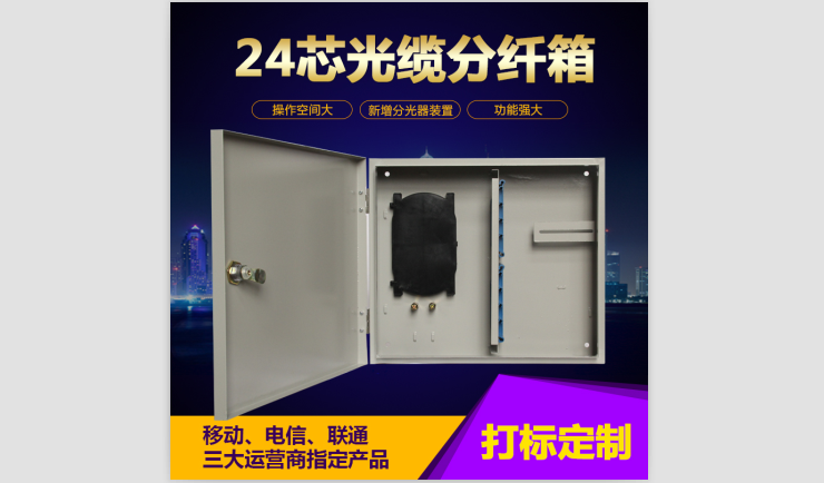 12芯 24芯室内光线配线箱分纤箱  室内室外用 光纤盒式分纤箱入户楼道箱